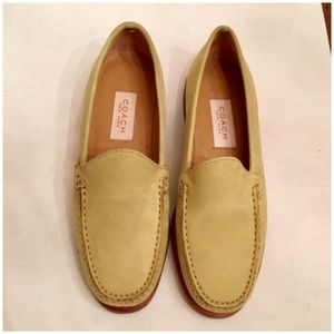 Coach Suede Loafers. Pea Green